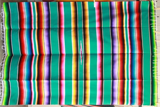 Couverture Mexicaine en coton Sarape XL n° 1