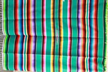 Couverture Mexicaine en coton Sarape XL n° 7
