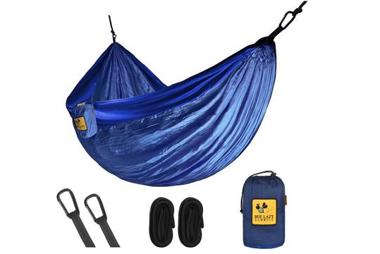 Hamac de Voyage : Hamac Bee Lazy  : Hamac simple parachute Bee Lazy  Blue Note