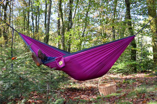 Hamac de Voyage : Hamac Bee Lazy  : Hamac de voyage Bee Lazy Purple Haze